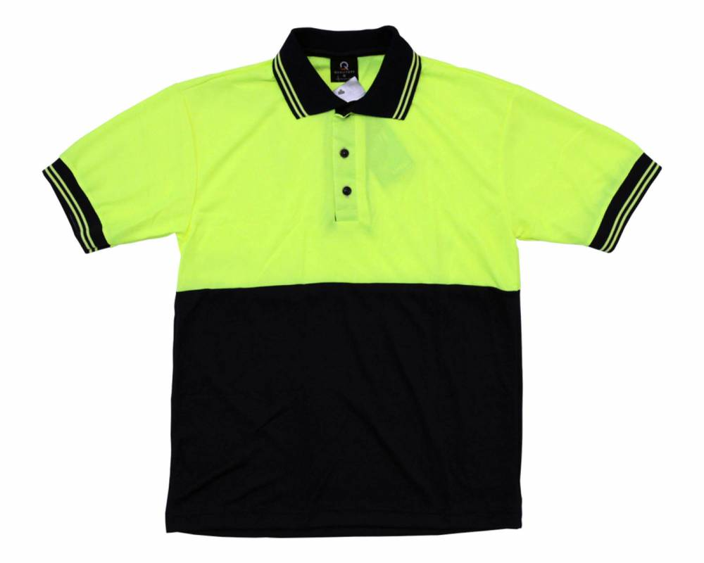 Coolmesh-SS-Polo-Navy-Yellow-Pinstripe