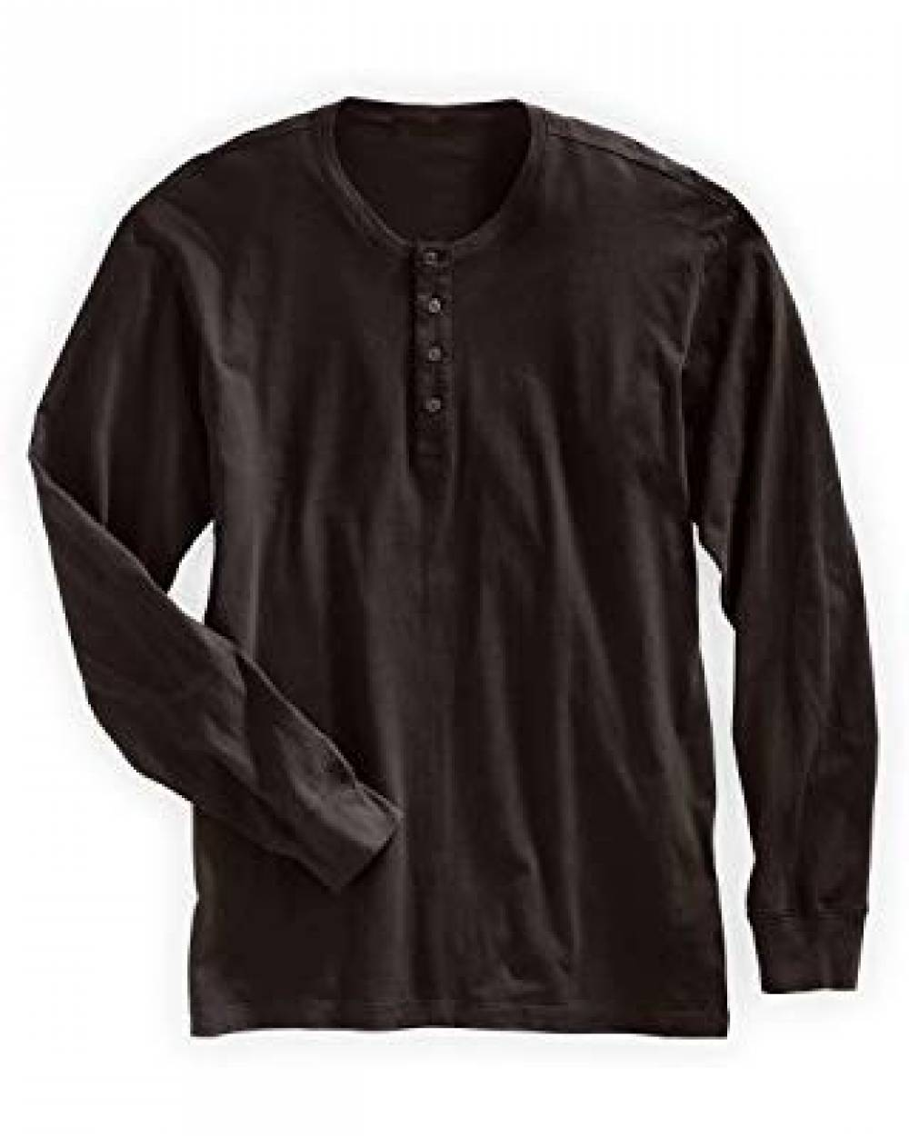Men's Regular-Fit Long-Sleeve Henley Shirt