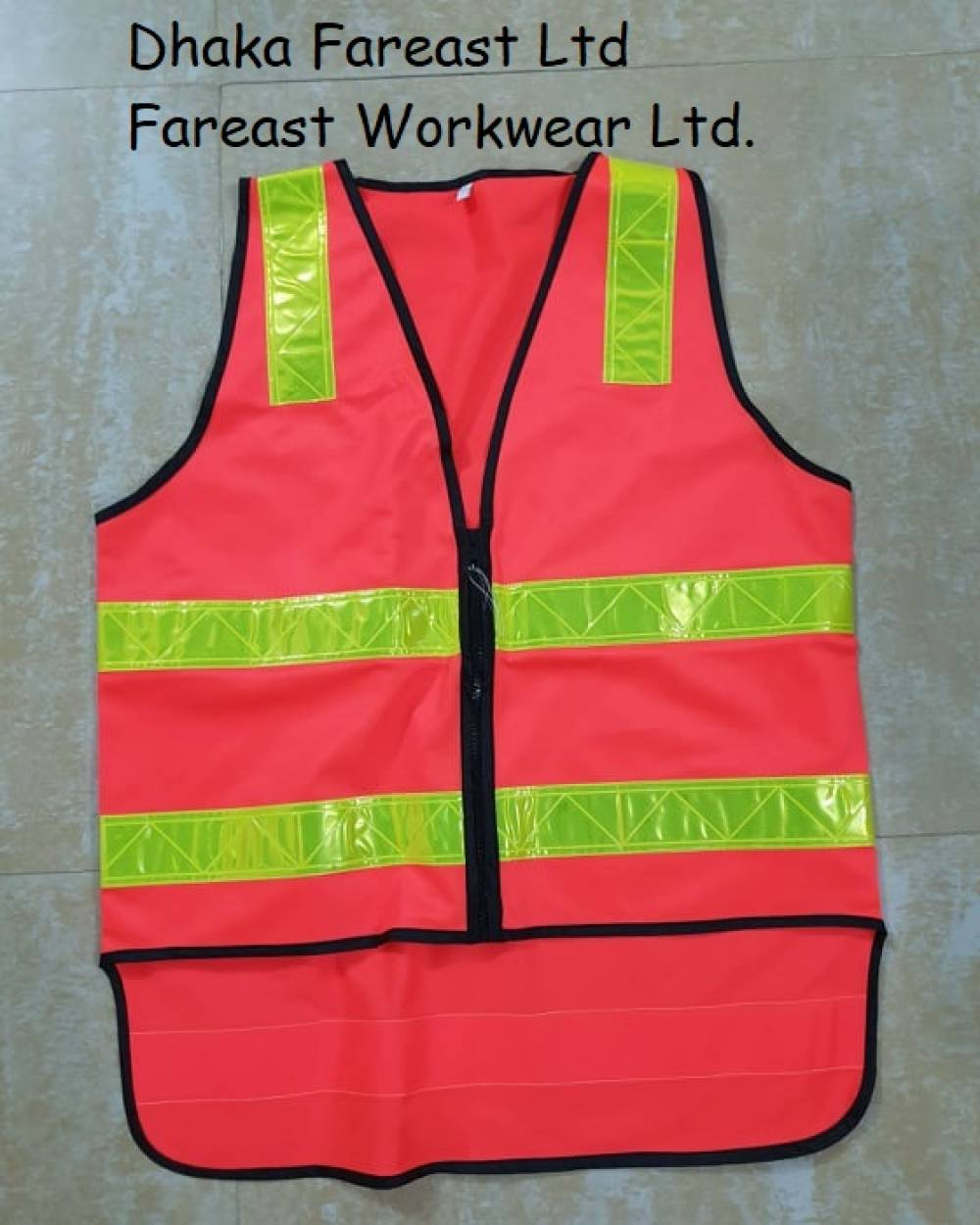 Hi vis warning vest safety waistcoat reflective Vest CE EN20471 class 2