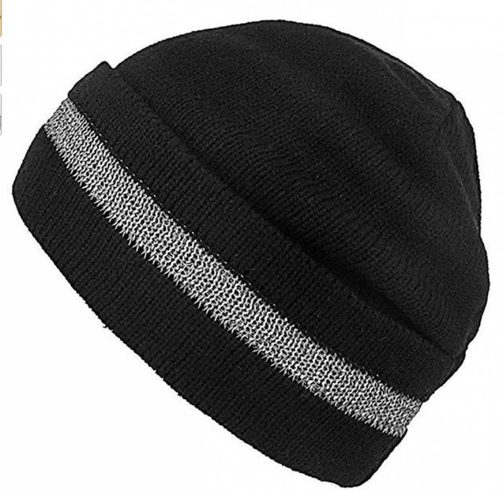 High Elasticity Reflective Knit Cap,Winter Daily Beanie,Cold-Proof and Warm,for Outdoor Working and Sports